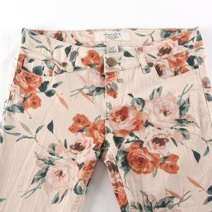 American Rag Size 3 Floral Skinny Jeans NWOT
